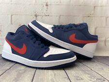Nike Air Jordan 1 Low SE Navy Blue Red White USA Shoes CZ8454-400 Men's Size 10