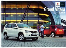 Suzuki Grand Vitara 2010-12 UK Market Sales Brochure 3-dr 5-dr SZ3 SZ4 SZ5