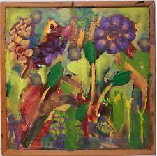 Peintures du XXe siècle et contemporaines sur panneau en fleur, arbre