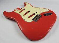 MJT Official Custom Vintage Age Nitro Guitar Body By Mark Jenny VTS Fiesta Red
