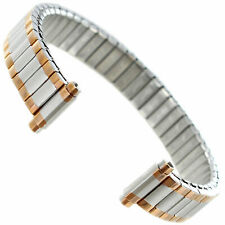 10-13 mm SPEIDEL ROSE GOLD GP SILVER TONE STAINLESS LADIES STRETCH WATCH BAND