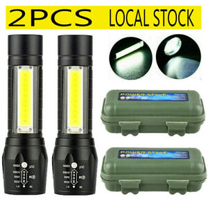 900000LM LED Flashlight Tactical Light Super Bright Torch USB Rechargeable COB