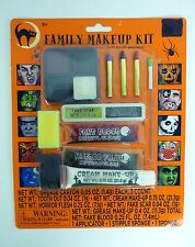 HALLOWEEN FAMILY MAKEUP KIT Face Cream Crayons Fake Blood Scar Flesh STAGE PLAY