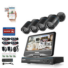 SANNCE 8CH 1080N HD 10-inch Monitor DVR 1500TVL IR Home Security Camera System