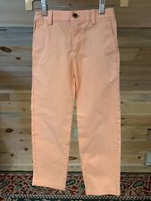 Mint Brooks Brothers Fleece PAPAYA Chinos Khakis Pastel Pants Boys' size 8