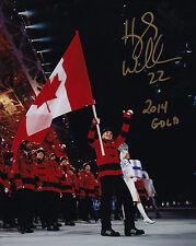 Team Canada 2014 Photo Signed Hayley Wickenheiser 8x10 Flag Bearer Hockey Gold