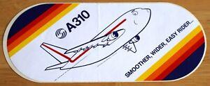 Original Airbus Issued Airbus A310 Airliner Sticker