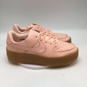 Nike Womens Air Force 1 Sage Low LX Sneakers Shoes Pink AR5409-600 7.5 M New
