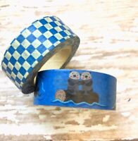 2 Rolls Otter  Washi Tape Scrapbook Decorative Masking Planner Supply Check