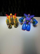 Hasbro Playskool Transformers Beast Wars Go-Bots Cheetor Takara 2001 2 Pc Lot