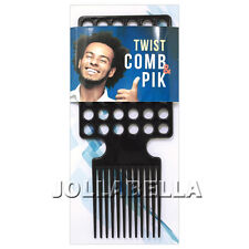 Twist Comb & Pik Afro Men's Kinky Styling Brush Dread Locking Coil Hair #TC001