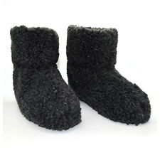 WOMENS LADIES FUR LINED ANKLE SLIPPERS BOOTIES WARM SOFT COSY WINTER SIZE 3 - 8