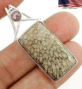 Natural Stingray Coral 925 Sterling Silver Pendant, JH4-6