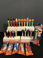 PEZ - Vintage Halloween Lot of 29-ghosts skeletons witches & cat. No Feet Witch
