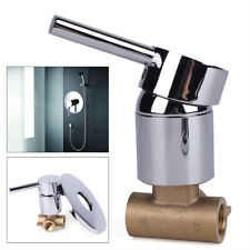 Shower Tap Control Valve 1 Handle Brass Mixer Faucet Hot & Cold Wall Mount 1/2