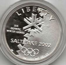 U.S.A. 1 dolar 2002 XIX Olimpiada de invierno Proof con estuche