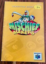 Mischief Makers 🔥 Nintendo 64 N64 Manual Instruction Booklet 🔥🔥