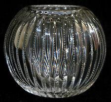 "abp American brilliant cut glass rose bowl, notched prism, zipper motif, 5"""