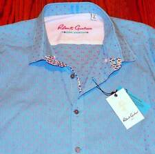 ROBERT GRAHAM MENS AUTHENTIC BRAND NEW BLUE DRESS SHIRT TOP Size L (LARGE), NWT