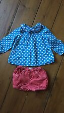 Baby Boden Cord Bloomers & Blouse 12-18mths & 18-24mths