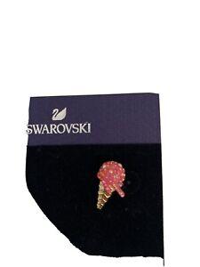 Swarovski-Ohrstecker, Pink/gold, Neu