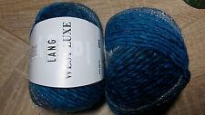 600g WEST LUXE Lang Yarns Blau  Effekte Farbverlauf MERINO NATUR UVP 71,40 €