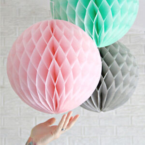 AU_ Cy_ 5Pcs 6inch Solid Tissue Paper Pompom Ball Hanging Wedding Party Decor Tr