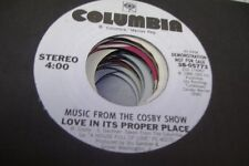 Soul Promo 45 Music From The Cosby Show - Love In Its Proper Place / Look At Thi