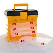Fishing Carry Case Tool Box DIY Hobby Screw Hardware Storage Craft Organiser NEW