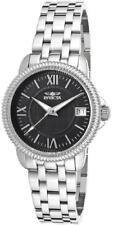 Invicta 18067 Dynasty Date Black Dial Roman Numerals Silver tone Womens Watch
