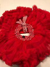OOBI KIDS GIRLS TUTU RED STRIPY POLKA DOT QUALITY STUNNING Skirt SZ 1/2