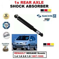 FOR RENAULT MEGANE Scenic 1.4 1.6 2.0 1.9 1997-99 SACHS REAR AXLE SHOCK ABSORBER
