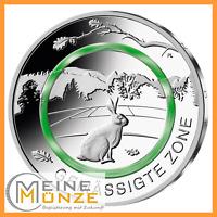 5 Euro Münze Gemässigte Zone Deutschland 2019 Stempelglanz inkl. Kapsel, Polymer