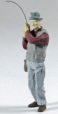 MAN FISHING O On30 1:48 Model Railroad or Diorama Painted Pewter Figure FRA1156