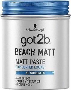 Schwarzkopf Got2b Beach Matt Paste Hair Matt Effect Texturiser 100ml
