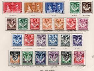 Northern Rhodesia George VI 1938 set lightly hinged.