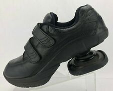 Z Coil Legend Velcro Spring Shoes Black Leather Pain Relief Diabetes Mens Sz 10M