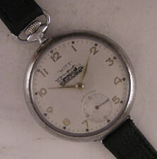 Hi Grade Fully Serviced RAILROAD Chronometer 1930 French Wrist Watch A+