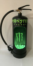 More details for monster energy drink up cycled fire extinguisher display light