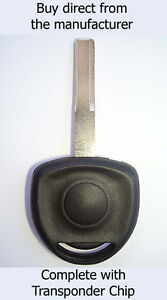 VAUXHALL Calibra 1995 - 1998 COMPATIBLE SPARE KEY with ID40 Transponder Chip.
