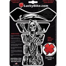 Grim Reaper Scythe Gas Fuel Tank Pad Protector Motorcycle Resin Gel Guard Sickle