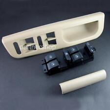 Beige Window Master Switch Bezel Cover Handle Trim Set For VW Jetta Passat GOLF