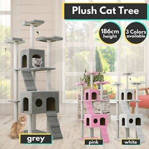 Multi Level Cat House Scratcher 186cm Tower Tree Furniture Condo Large