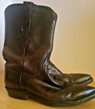 "Lucchese Womens Cowboy Boots Sz 7 B Black Cherry 10"" Shaft Handmade  Pointed Toe"