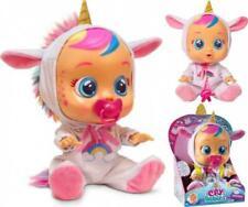 IMC Babypuppe Cry Babies Dreamy niedliche Einhorn Puppe mit Funktionen 30 cm