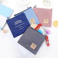 Portable Grid Travel Makeup Cosmetic Storage Bag Key Coin Phone Organizer Charm