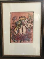 Marc Chagall original lithograph, Matted And Framed By Dow And Frosini
