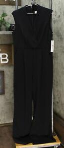 new Calvin Klein Womens Belted Cap-Sleeve Jumpsuit. CD0C16HK-Nobelt