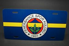 FENERBAHCE FOOTBALL CLUB LICENSE PLATE FOR CARS TURKISH SOCCER  METAL ALUMINUM