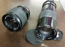 PAIR Vintage Super Albinar Zoom 38-70mm 3.5 Lens AND 100-200mm 1:5 Olympus READ